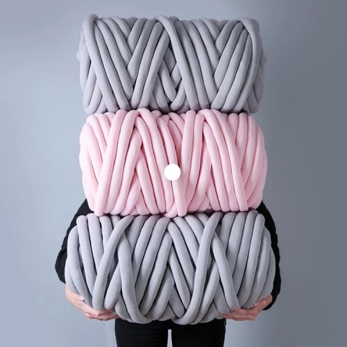 Washable Super Large Giant Seamless Polyester Filling Arm Knitting Handmade Cotton Jersey Chunky Braid Bulky Cotton Tube Yarn